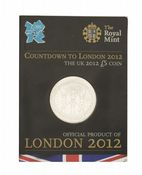 2012 COUNT DOWN TO THE OLYMPICS £5 COIN Short Version